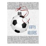 tarjetas de Navidad del jugador de fútbol Postales
