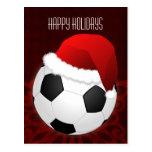 tarjetas de Navidad del jugador de fútbol Tarjetas Postales