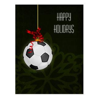 tarjetas de Navidad del jugador de fútbol Tarjeta Postal