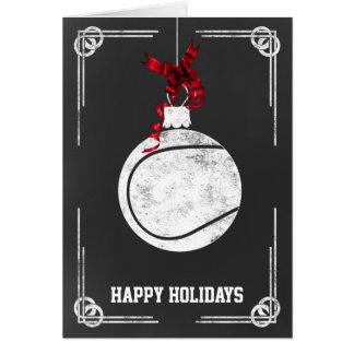 tarjetas de Navidad del jugador de tenis de la