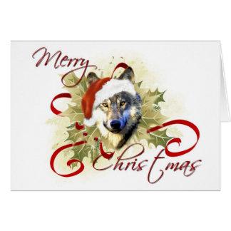 Tarjetas de Navidad del lobo