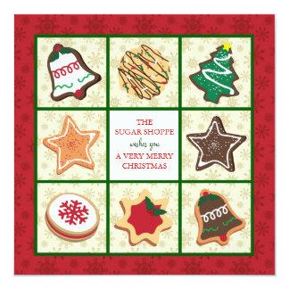 Tarjetas de Navidad del negocio de la panadería Anuncios Personalizados