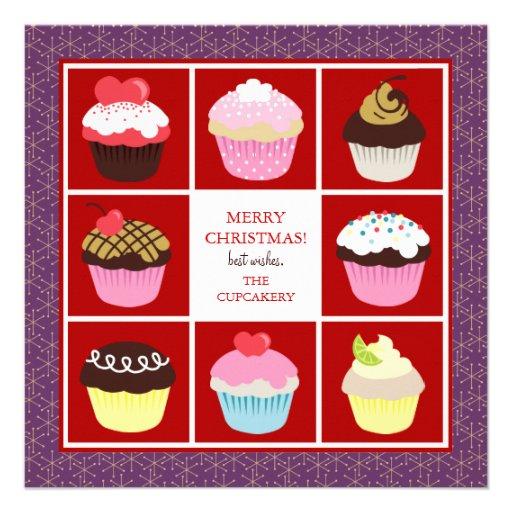 Tarjetas de Navidad del negocio de la panadería Invitaciones Personales