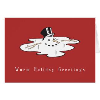 Tarjetas de Navidad del negocio del muñeco de niev