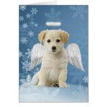 Tarjetas de Navidad del perrito del ángel
