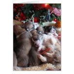 Tarjetas de Navidad del perrito del Corgi de la si