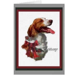 Tarjetas de Navidad del perro de aguas de Bretaña