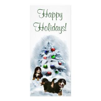 Tarjetas de Navidad del perro de montaña de Bernes Plantilla De Lona