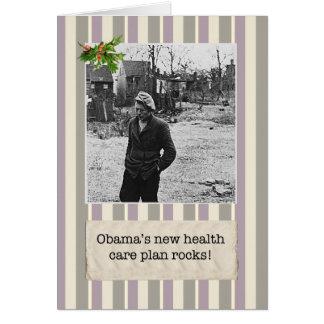 Tarjetas de Navidad del plan de la atención sanita