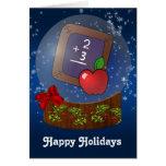 tarjetas de Navidad del profesor de escuela