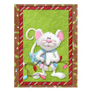 Tarjetas de Navidad del ratón Postal