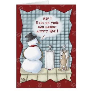 Tarjetas de Navidad divertidas: Aislamiento por fa