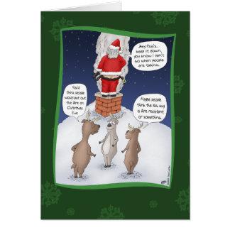 Tarjetas de Navidad divertidas: Apague el fuego