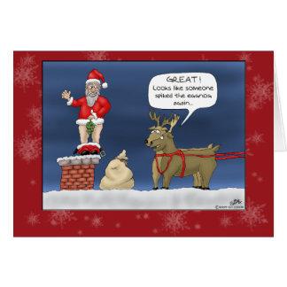 Tarjetas de Navidad divertidas Clavó la yema
