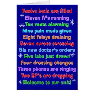 Tarjetas de Navidad divertidas de la enfermera