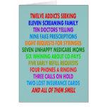 Tarjetas de Navidad divertidas del farmacéutico