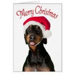 Tarjetas de Navidad divertidas del perro del Dober
