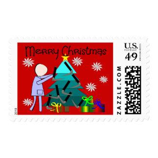 Tarjetas de Navidad divertidas del terapeuta Sellos