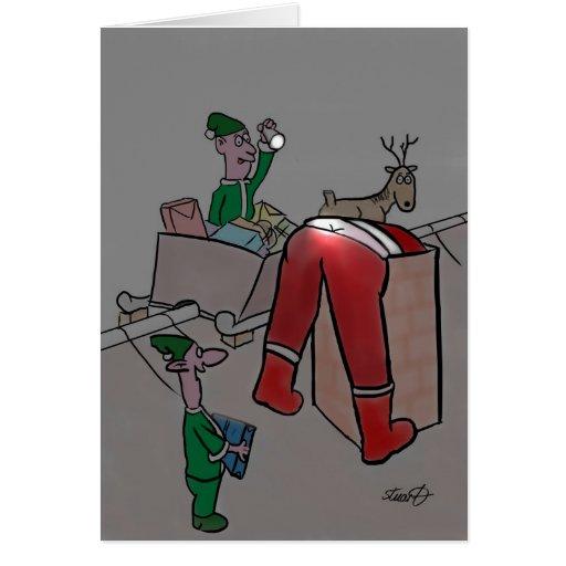 Tarjetas de Navidad divertidas: Duendes frescos