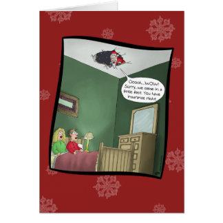 Tarjetas de Navidad divertidas: El accidente