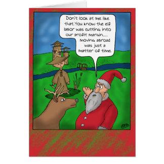 Tarjetas de Navidad divertidas: Navidad en el extr