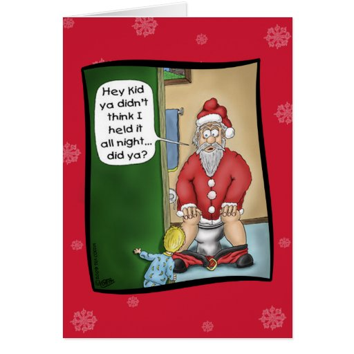Tarjetas de Navidad divertidas: Parada del hoyo