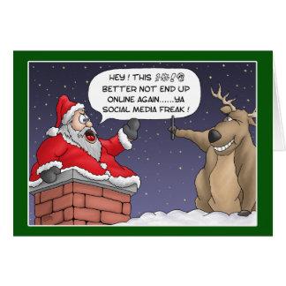 Tarjetas de Navidad divertidas: Poste en línea