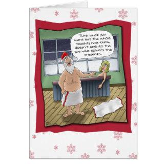 Tarjetas de Navidad divertidas: Regla traviesa y