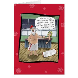 Tarjetas de Navidad divertidas: Reglas traviesas y