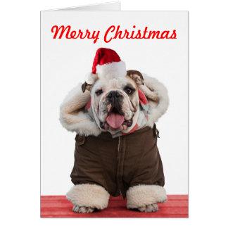 Tarjetas de Navidad divertidas y lindas del dogo