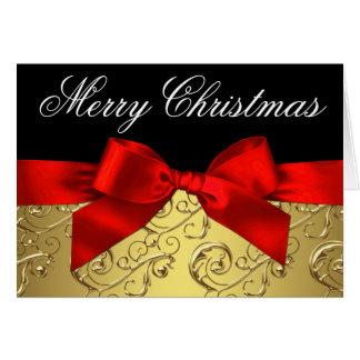Tarjetas de Navidad elegantes del remolino del roj