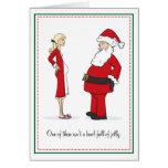 Tarjetas de Navidad embarazadas - cuenco RUBIO de