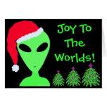 Tarjetas de Navidad extranjeras personalizadas cal