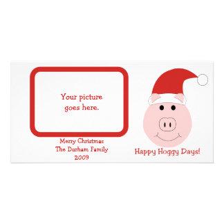 Tarjetas de Navidad felices de la foto de los días Tarjeta Fotográfica Personalizada