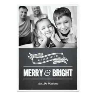 """Tarjetas de Navidad felices y brillantes de la Invitación 5"""" X 7"""""""
