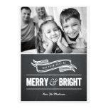 Tarjetas de Navidad felices y brillantes de la piz Comunicado Personal