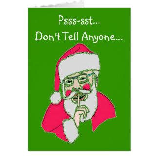 """Tarjetas de Navidad gay---""""El Santa torcido """""""