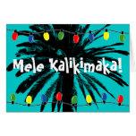 ¡Tarjetas de Navidad hawaianas el | Mele Kalikimak Tarjeta De Felicitación