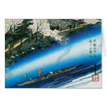 Tarjetas de Navidad japonesas de Hiroshige del vin