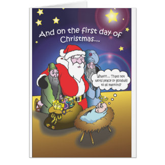 Tarjetas de Navidad, los tres hombres sabios