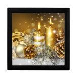 Tarjetas de Navidad magníficas del oro, regalos Cajas De Regalo