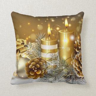 Tarjetas de Navidad magníficas del oro, regalos Almohadas