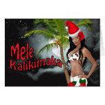 Tarjetas de Navidad modelas de Wahine Mele Kalikim