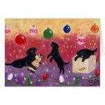 Tarjetas de Navidad negras de Labrador