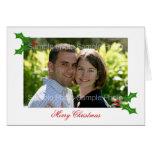 Tarjetas de Navidad personalizadas de la foto