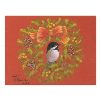 Tarjetas de Navidad personalizadas del Chickadee Postal