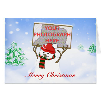 Tarjetas de Navidad personalizadas lindas de la fo