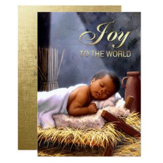 """Tarjetas de Navidad planas de Jesús del bebé Invitación 5"""" X 7"""""""