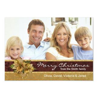 Tarjetas de Navidad rojas de la foto del Comunicado