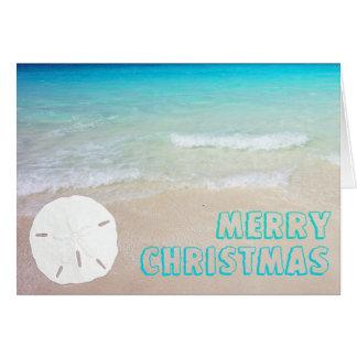 Tarjetas de Navidad tropicales de la playa del
